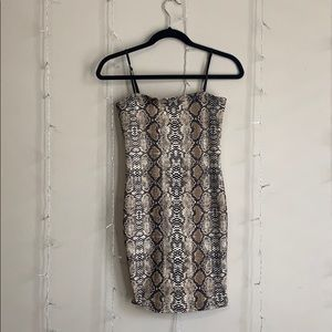 NastyGal snakeskin bodycon dress